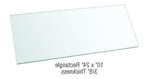 """CRL 10"""" x Rectangle Clear Glass Pack of 3"""