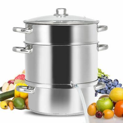 11 quart stainless steel fruit juicer steamer