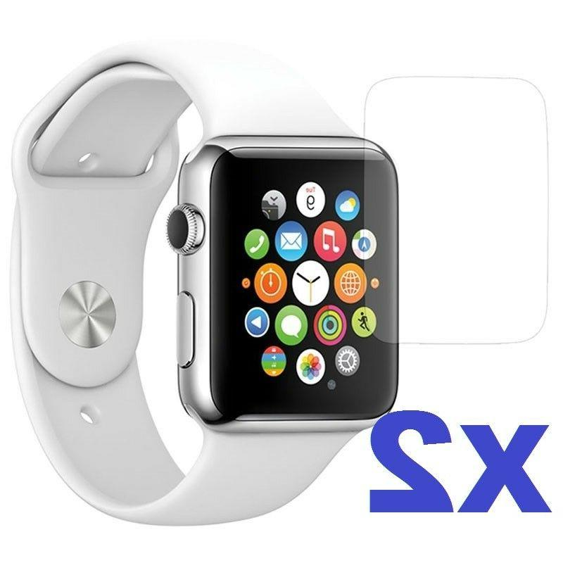 2-PACK Tempered Glass Screen Protector For Apple Watch  38mm