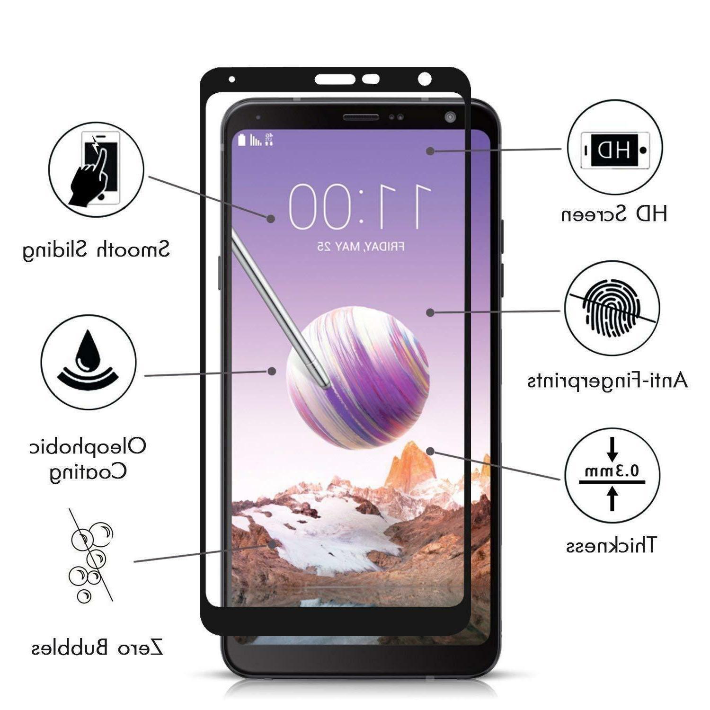 2-Pack LG Stylo 4 2018 Tempered Glass -Black