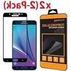 2 Pack For Samsung Galaxy Note 5 FULL COVER Tempered Glass S