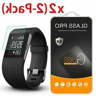 2-Pack Tempered Glass Screen Protector Guard for Fitbit Surg