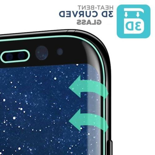 2-Pack Full Glass Protector F Galaxy S8 S9 Note 8