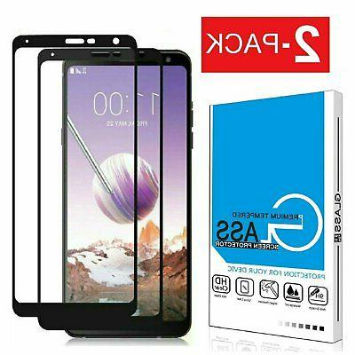 2 pack tempered glass full coverage screen