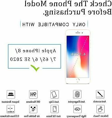 2-Pack Tempered Glass Screen Protector for iPhone 8 Plus X Max 11