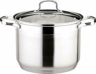 21 quart stockpot tempered glass lid induction