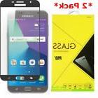 2X Full Cover Tempered Glass Screen Protector Samsung Galaxy