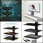 3 Floating Tempered Glass Shelves Large Wall Mount Tv Access