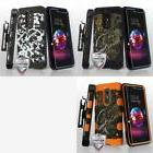 3-in-1 Storm Tank+Holster+Tempered Glass for LG K10 X410 K30