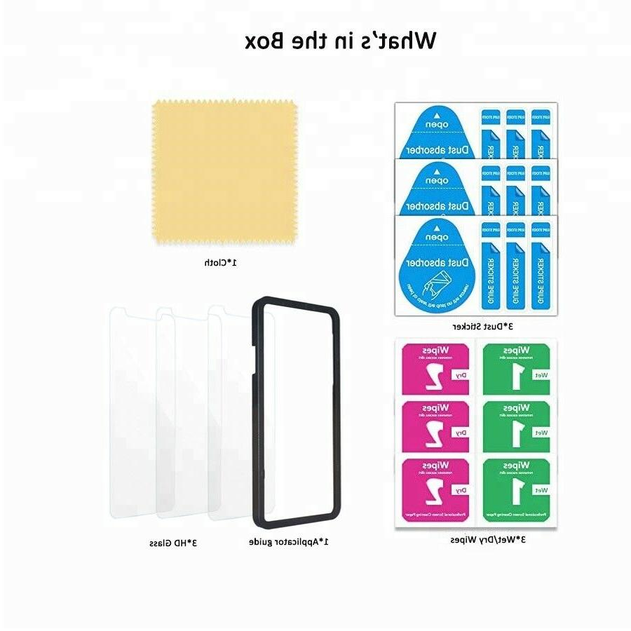3-Pack Tempered Glass Screen Install Tray