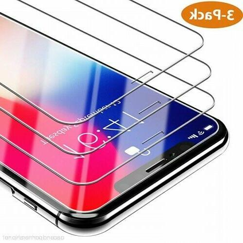 For iPhone 11 Max X Max Tempered Screen 3-PACK