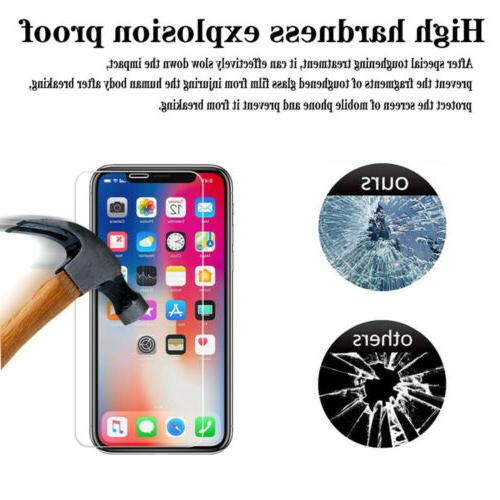 For iPhone Max X XS Max 8 Tempered Screen Protector