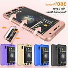 360° Full Cover Case +Tempered Glass For Samsung Galaxy J7