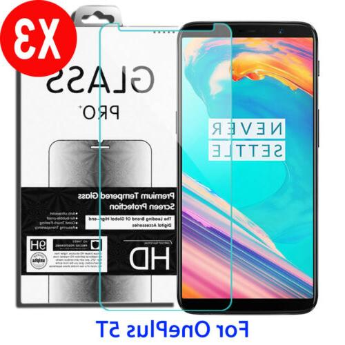 3X 9H Premium Tempered Glass Screen Protector Film For OnePl