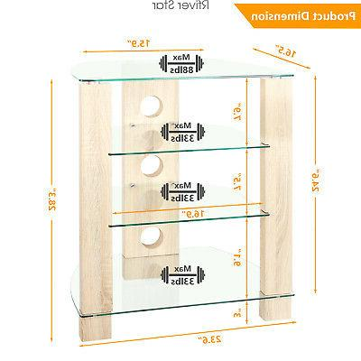 Wood Component Stand Cabinet, Modern Audio-Video