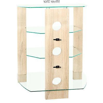 Wood AV Stand Stereo Audio-Video