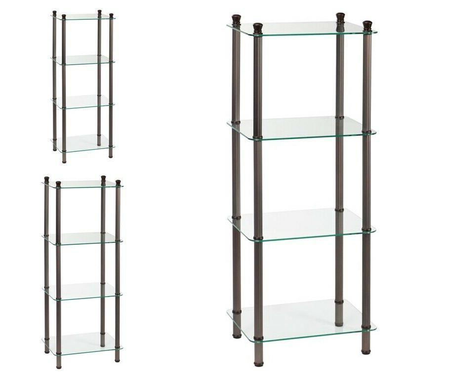 Bathroom Storage Organizer 4 Tier Metal Free Standing Floor