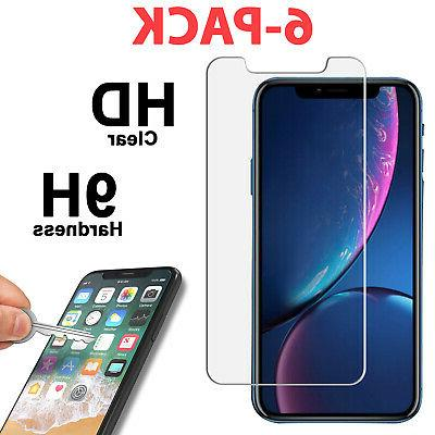 6 pk tempered glass screen protector