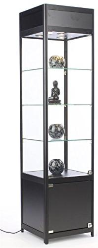 "72"" Tall Glass Display Cabinet with 3 Adjustable Tempered"