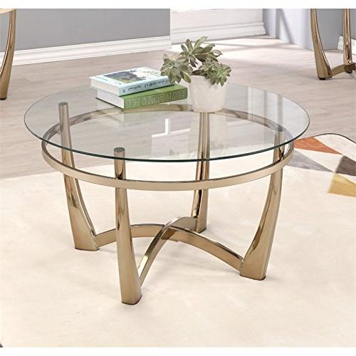 II Table, Champagne/Clear Glass
