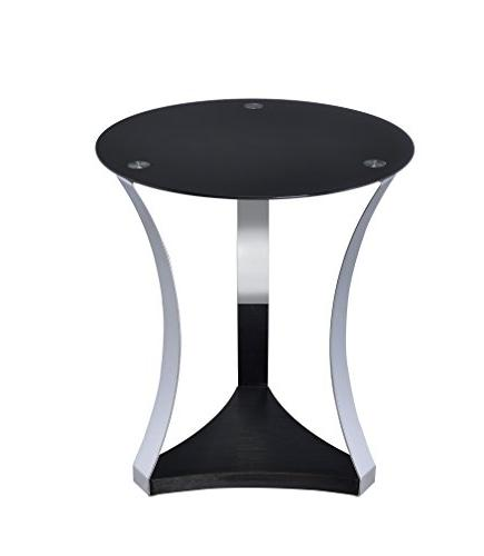 Acme Geiger End Table, One Size, Black Gold