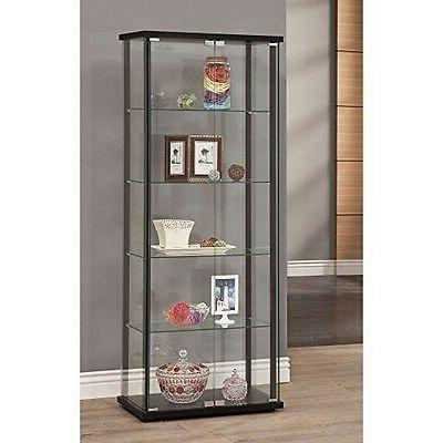 Coaster Home Furnishings Curio Cabinet Black-950170 NEW