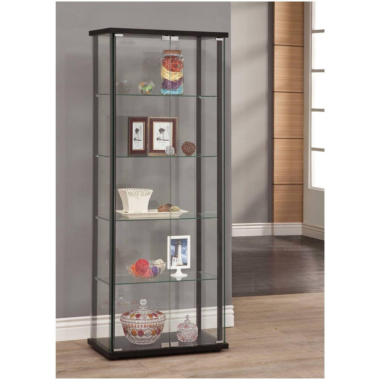 Coaster Home Furnishings 950170II Curio Cabinet Black-950170