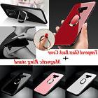9H Tempered Glass Back Cover Magnetic Ring stand Case for Sa