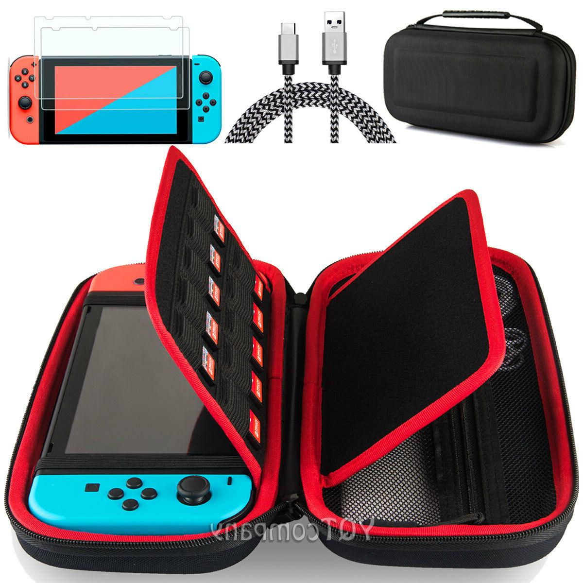 Accessories Case Bag+6ft/2M Charging Cable+2X Tempered Glass