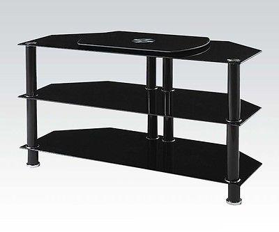 Acme Furniture 91066 Marabel TV Stand, Black Tempered Glass