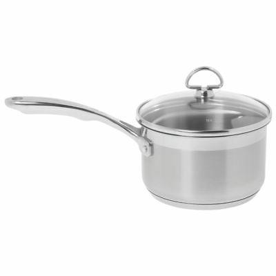 Chantal SLIN35-162 Induction 21 Steel Sauce Pan with Glass T