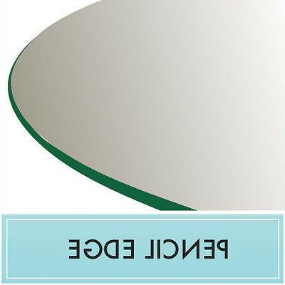 "Clear Tempered Glass Table Top 18"" Round 3/8"" thick - Pencil"