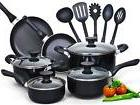 Cookware Set Nonstick coating Stay Cool Handle 15-Piece With