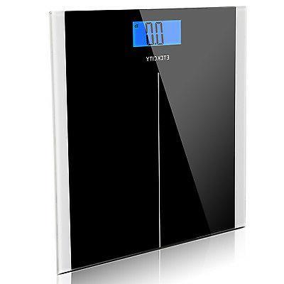 Etekcity 400lb LCD Digital Bathroom Body Weight Scale Temper