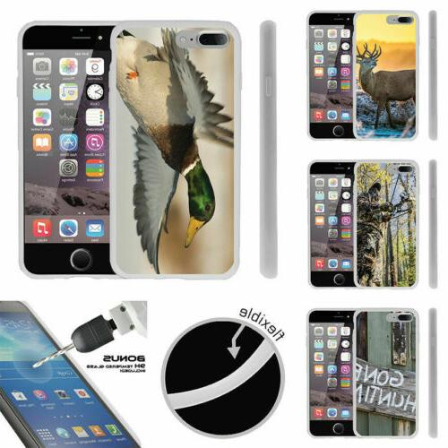 For Apple iPhone 7 Plus  TPU Case + Tempered Glass Hunting O