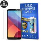 For LG G6 Tempered Glass Screen Protector Phone Cover 2-PACK