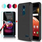 For LG K30/Premier Pro LTE Shockproof Phone Case+Tempered Gl