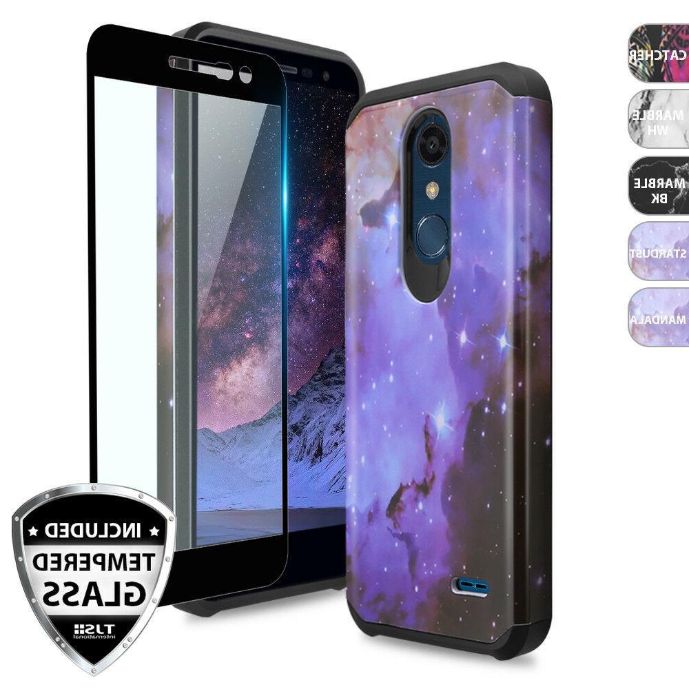For LG Premier Pro LTE Shockproof Rubber Design Phone Case+B