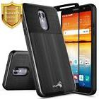 For LG Q7+ Plus/LG Q7 | Shockproof Brushed Dual Layer Case C