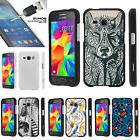 For Samsung Galaxy Core Prime G360 2 Piece Case + Tempered G