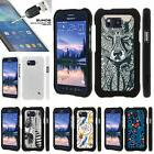 For Samsung Galaxy S6 Active Snap On 2 Piece Case + Tempered