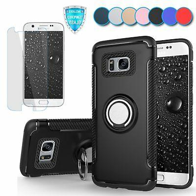 For Samsung Galaxy S7 Case Slim Ring Stand Shockproof Armor