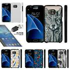 For Samsung Galaxy S7 G930 Snap On 2 Piece Case + Tempered G