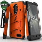 For ZTE Zmax Pro Case Cover Tempered Glass Kickstand Holster