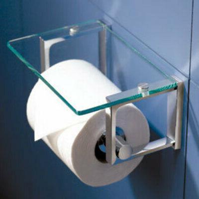 Ginger 3027 Tempered Glass Covered Toilet Toilet Paper Holde