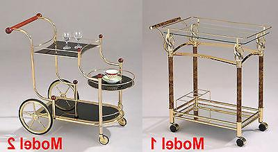 Gold Metal Plated Tempered Clear / Black Glass Storage Servi