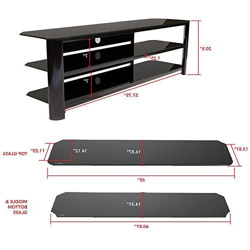 Innovex Fold N Snap glass TV TVs up to 70 Black