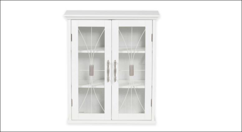 Lafayette Bathroom Cabinet Collection, Tempered Glass, White