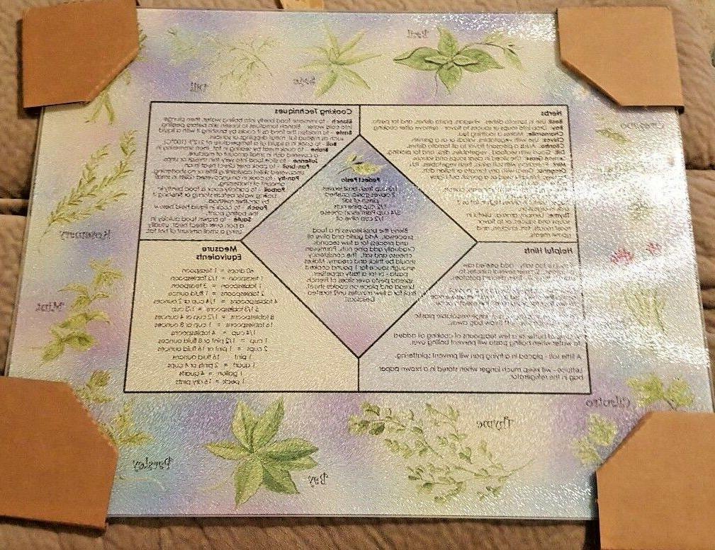 McGowan Tuftop Smart Top Tempered Glass Cutting Board Herb a