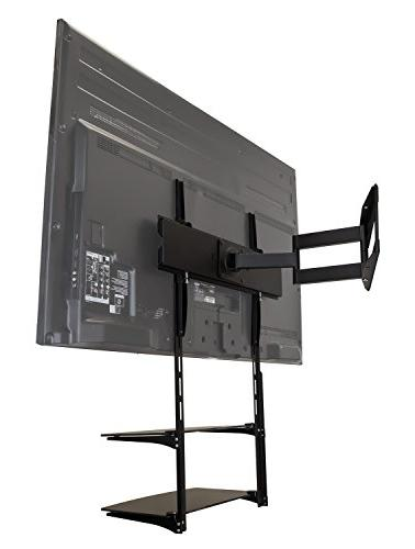 Mount-It! TV Wall Shelf For Box, DVD AV and Two Tempered
